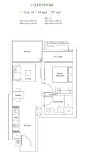 avenue-south-residence-1-bedroom-floor-plan-a1-singapore